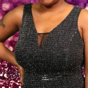 Dresses - Black w/ silver sparkles Dress